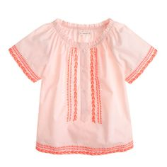 J.Crew - Girls' embroidered peasant top