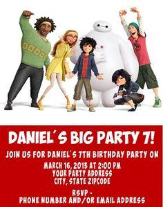 big hero 6 invitations