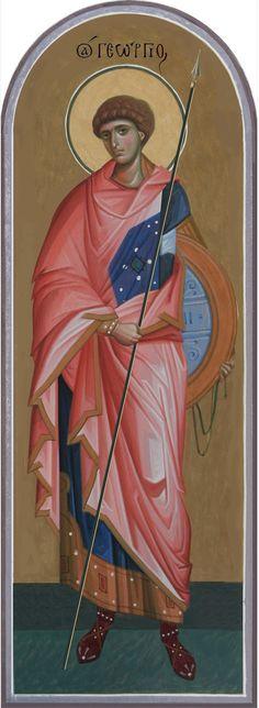 Orthodox Icons, Saint George, Saints, Fashion, Byzantine Icons, Fresco, Moda, Fashion Styles, Fashion Illustrations