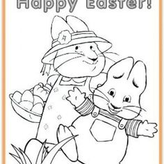 max and ruby coloring easter printables