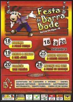 Portal de Memórias de Barra de São Miguel - PB : A Festa do Barra Bode - Galeria de Cartazes