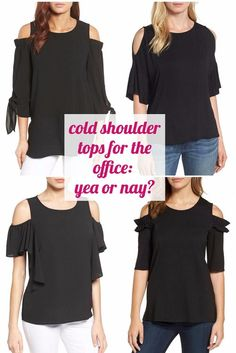Can you wear cold shoulder tops to the office? Would you? DO you? Readers at Corporette.com are reaching a consensus on whether the cold shoulder trend is work appropriate...do you agree?