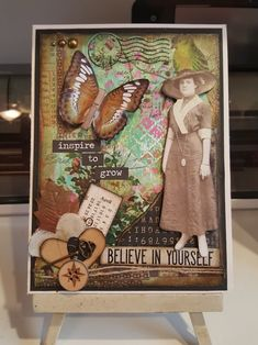 this is one of my original cards, used alot of Tim holtz items and back ground was done with gelli plate and a few different paints. ty all for peaking. Tim Holtz, Mary, Plate, Inspired, The Originals, Painting, Inspiration, Vintage, Biblical Inspiration