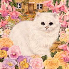 Art Licensing Painting - Pinky by Anne Mortimer