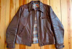 1930s style leather jacket.