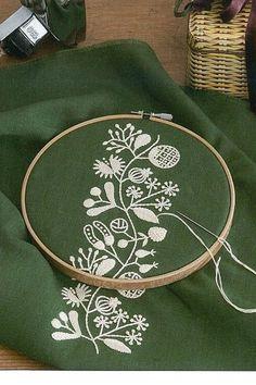 12 Months Embroidery by Yumiko Higuchi Japanese by KitteKatte #EmbroideryYumikoHiguchi