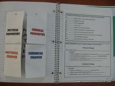 My Science Lessons: Physical & Chemical Properties/Changes Foldable