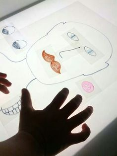 Making funny faces on the light table - And Next Comes L ≈≈. Make different emotions Sensory Table, Sensory Bins, Preschool Science, Toddler Preschool, All About Me Preschool, Licht Box, Light Board, Different Emotions, Kindergarten Centers