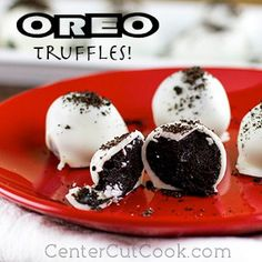 Ridiculously Easy 3 Ingredient Oreo Balls - SO easy! I've made these and they should be shared at a party-but they are pretty yummy