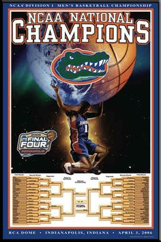 NCAA National Champions Poster Gators Final Four