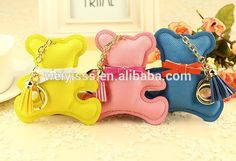 Image result for leather teddy bear keychain