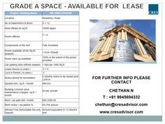 #Commercialofficespace #lease #bangalore #Furnishedspace  Fully Furnished Commercial Office Space available for Lease at Residency Road,19000 sq.ft Bangalore. Visit us for more details http://cresadvisor.com