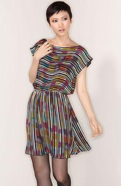 Alice + Olivia 'Bea' Stripe Silk Dress