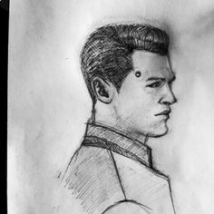 Detroit become human Connor sketch By: petrovichtoteshe