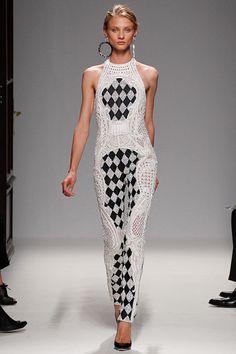 Loving this Balmain SS 2013 catsuit on Anna Selezneva
