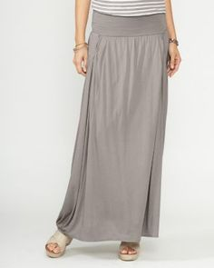 Garnet Hill Easy Maxi Knit Skirt.  also in Castlerock (charocal) and black