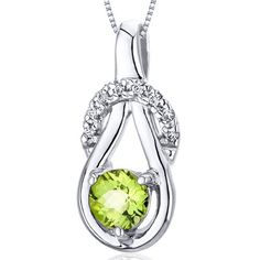 Revoni 0.50ct Round Cut Sterling Silver Peridot Pendant with Length Silver Necklace of Length 46cm Revoni http://www.amazon.co.uk/dp/B005HVCTPQ/ref=cm_sw_r_pi_dp_qhfgub06FJVTC