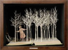 I LOVE these book sculptures in a shadow box by Su Blackwell.