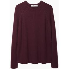 Hope Pat Sweater ($172) ❤ liked on Polyvore featuring tops, sweaters, shirts, jumpers, purple shirt, long sleeve sweaters, crew shirt, long sleeve pullover sweater and purple long sleeve shirt