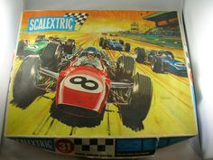 The first Scalextric set I ever owned, age 4 Those Were The Days, Slot Cars, Box Art, Toys For Boys, Good Old, My Childhood, Memories, Cool Stuff, Model