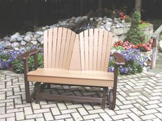 Perfect Choice Outdoor Furniture Recycled Plastic Classic Glider - Ships Within 7 to 10 Business Days Outdoor Seating, Outdoor Chairs, Outdoor Decor, Backyard Furniture, Outdoor Furniture, Amish Furniture, Backyard Patio, Outdoor Glider Chair, Palette