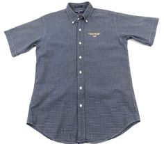 Polo Sport Ralph Lauren Button Up Shirt Boys Size XL Blue White Plaid Cotton #PoloSport #Everyday