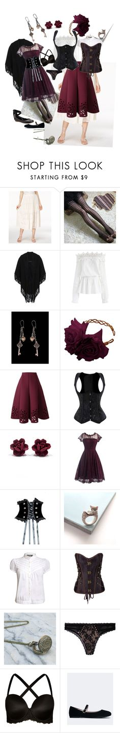 """Rose Red"" by ashley-johnson-xvi ❤ liked on Polyvore featuring Rachel Rachel Roy, Miss Selfridge, Chicwish, Rock 'N Rose, And Mary, Pilot, WithChic, Dita Von Teese, City Chic and J. Adams"