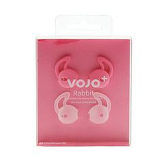 Fit for Sport Earpods Cover VOJO RABBIT Pink Clear2 Pairs AntiSlip Silicone Sleeve foriPhone 6 6s Plus 5 SE 5S 5CEar Hook EarbudsHeadphoneEarphone GripSweatWaterProofCoolGadget * Learn more by visiting the image link.