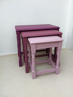 The Classy Home has a wide collection of nesting tables that you can easily choose from including those from Coaster Furniture. Redo Furniture, Painted Furniture, Table Furniture, Nesting Tables, Revamp Furniture, Recycled Furniture, Furniture Inspiration, Furniture Makeover, Painted Nesting Tables