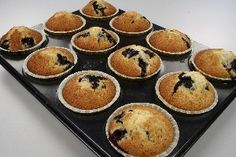 Blueberry muffins (works with raspberries and white chocolate as well)
