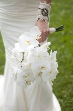 gorgeous white orchid bouquet