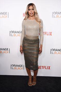 Pin for Later: Le Cast de Orange Is the New Black Se Met sur Son 31 Pour le Lancement de la Quatrième Saison Laverne Cox