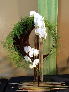 A creative arrangement at the Santa Barbara orchid show by Chrys Huynh