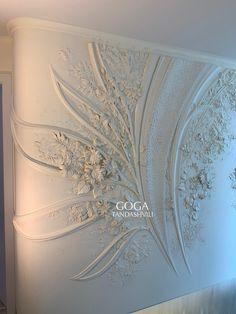 Plaster Art, Plaster Walls, Gypsum Decoration, Crochet Mat, Royal Art, Stuck, Art Nouveau Architecture, 3d Wall Art, Clay Flowers