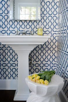 Today on the blog I'm talking about stylish powder rooms. Powder room designs provide the perfect opportunity to have fun and go bold. Whether&n