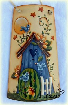 31 Coolest Decor Painting And Decorating - Country Crafts, Country Art, Stone Painting, Painting On Wood, Painted Rocks, Hand Painted, Tole Painting Patterns, Tole Decorative Paintings, Summer Painting