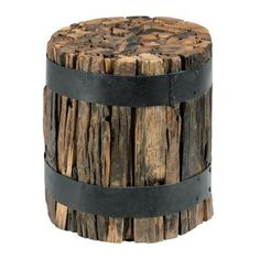 Dark Brown Recycled Accent Table