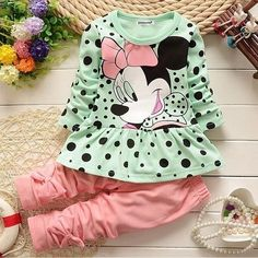 Mother & Kids Girls' Clothing Cooperative Spring Autumn Childern Girls Clothes Suit Baby Pink Bib Pants Kids Cartoon Clothing Set Winter Underwear Set Attractive Appearance