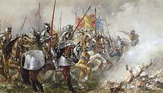 King Henry V at the Battle of Agincourt, 1415, by Sir John Gilbert in the 19th century.