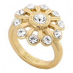Crystal Flower Ring