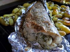 Stuffed Pike Baked In Foil Recipe ~ Food Network Recipes
