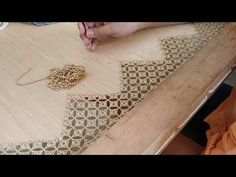 Aplic cut work blouse design - Full process - YouTube