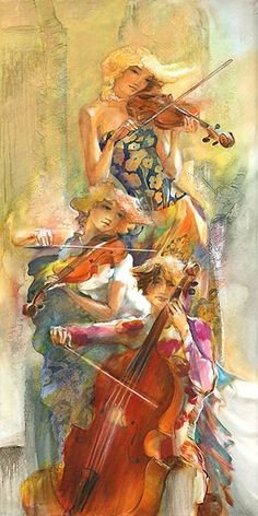Planting the garden that is your life ~ ~ Music appreciation.  Watercolor performers by Lena Sotskova - emotional & moving, you can almost hear the music . . .