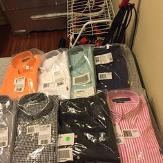 Ralph Lauren Button Front shirts Slim fit size large button front shirts .. all same size and all short sleeves .. listed 8 shirts if you wanna purchase all 8 let me know or just one let me know Ralph Lauren Tops Button Down Shirts