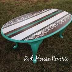 Painted table by facebook.com/RHReverie