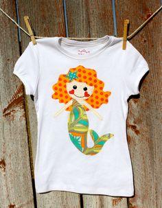 Merlinda the Magical Mermaid Shirt by sherunslikeagirl on Etsy, $28.00