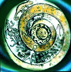This plate called 'The Lolladoff plate' is a 12,000 year old stone dish found in Nepal.