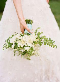 fern + white bouquet