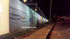 Jalan sekitar apartemen Keppel Land Jakarta - West Vista.
