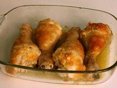 Muslos de pollo con ajo y parmesano